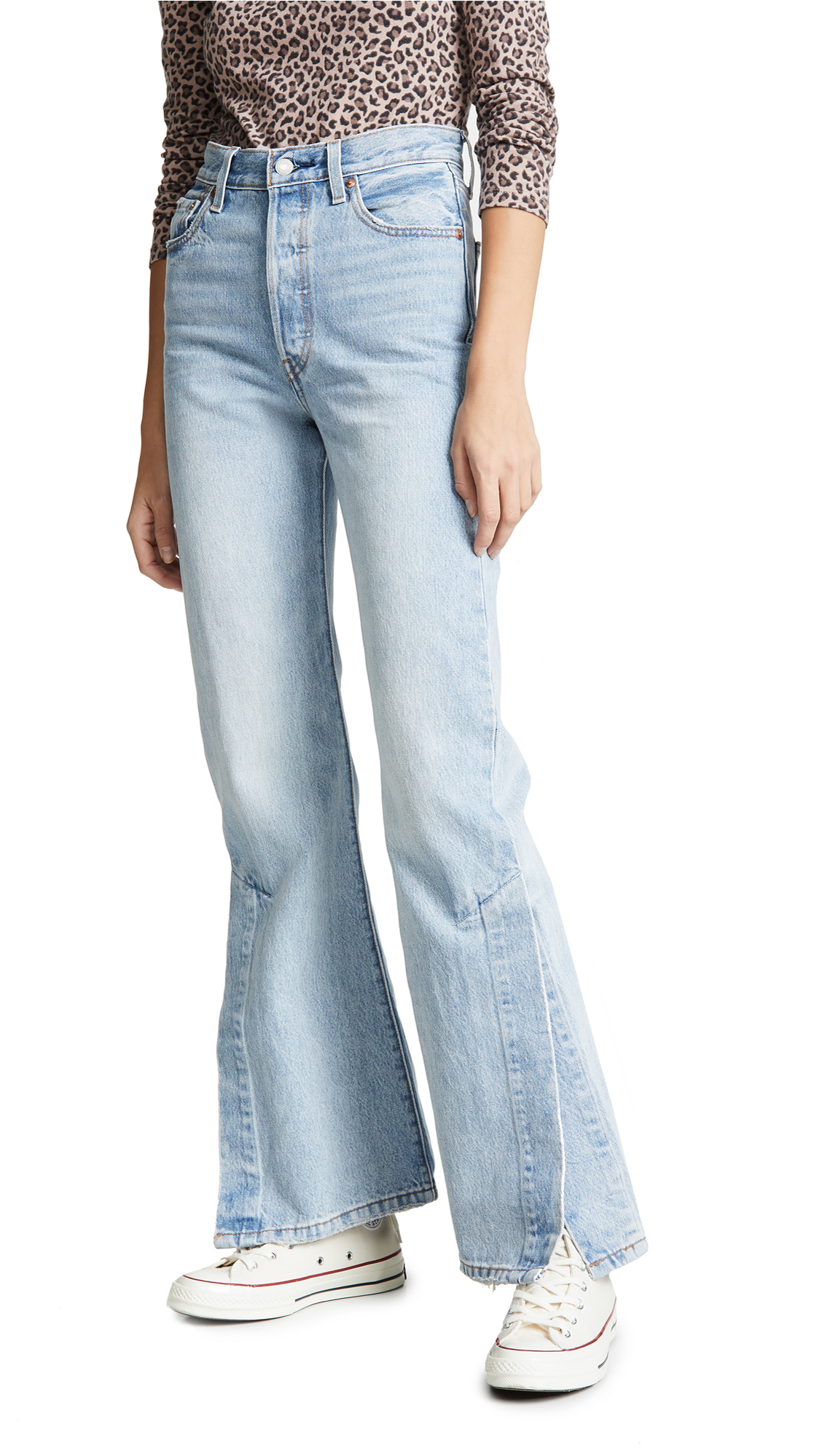 Levis Ribcage Split Flare Jeans - Dazed And Confused