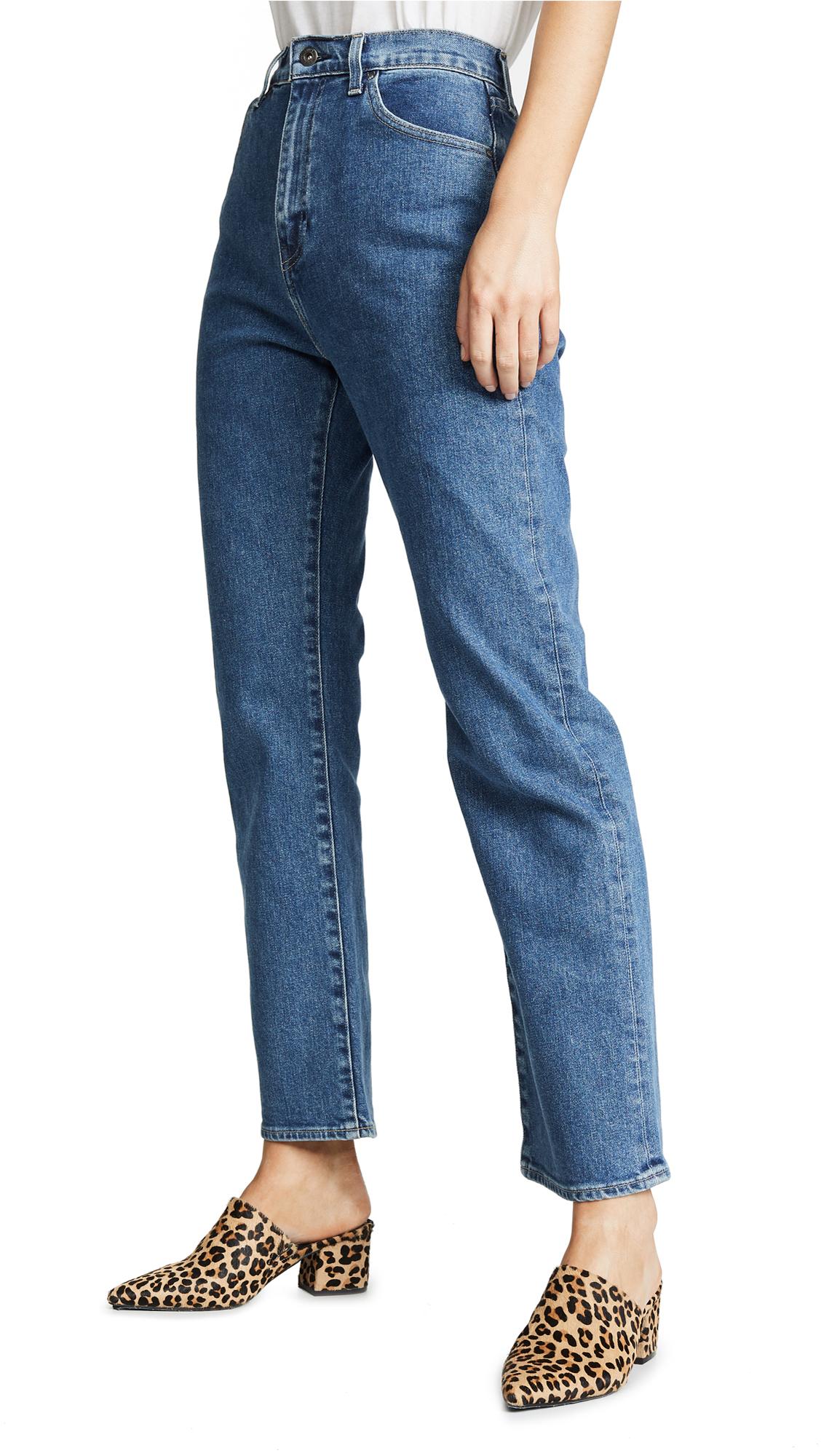 Levis 701 Highrise Straight Jeans - Selvedge Medium Stonewash