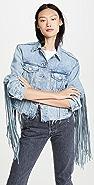 Levi's Ex-Boyfriend Fringe Trucker Jacket