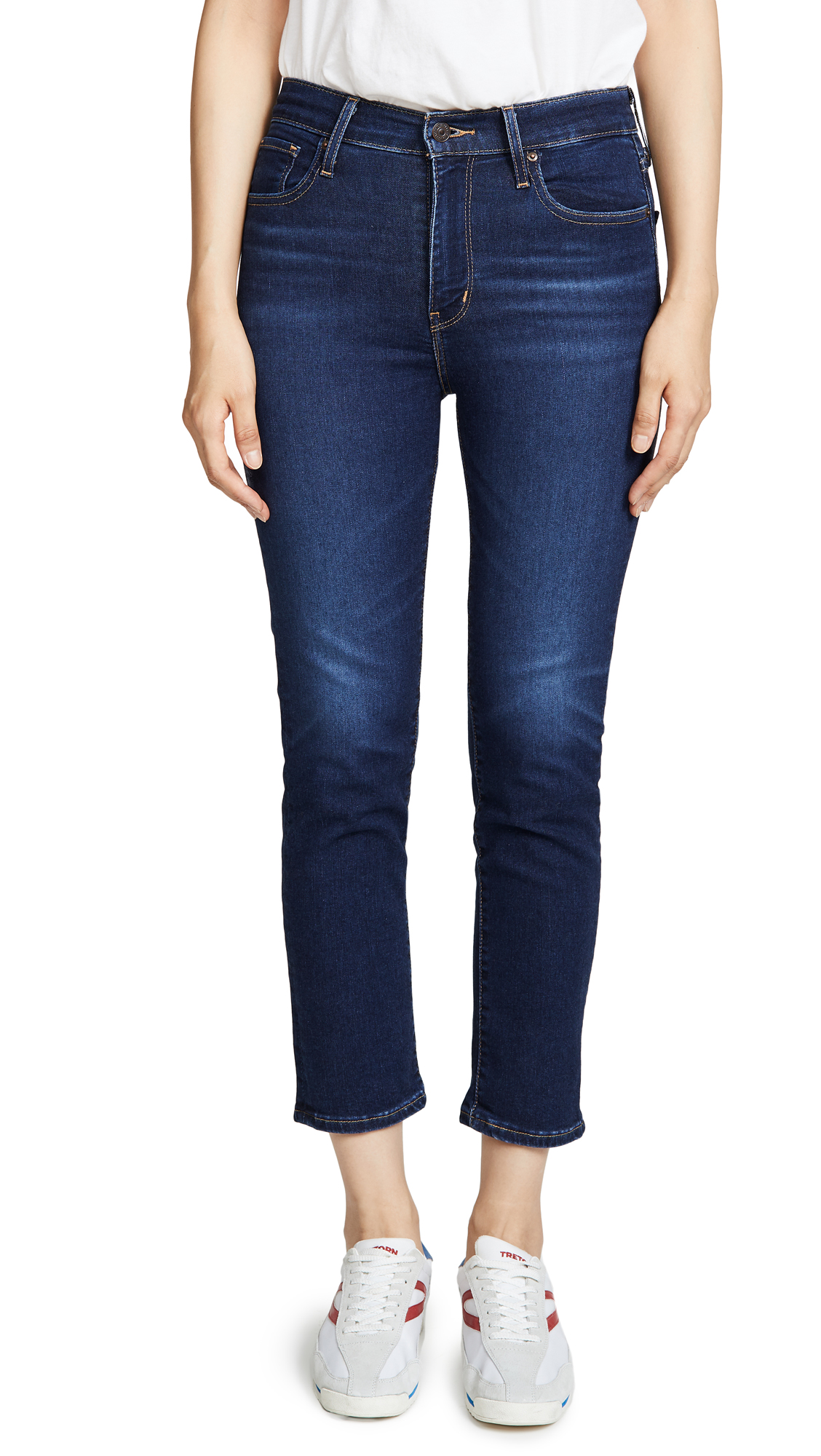 Buy Levi's online - photo of Levi's 724 High Rise Straight Crop Jeans