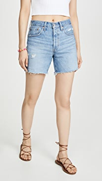 501 Mid Thigh Shorts by Levi's, available on shopbop.com for 70 Hailey Baldwin Shorts SIMILAR PRODUCT