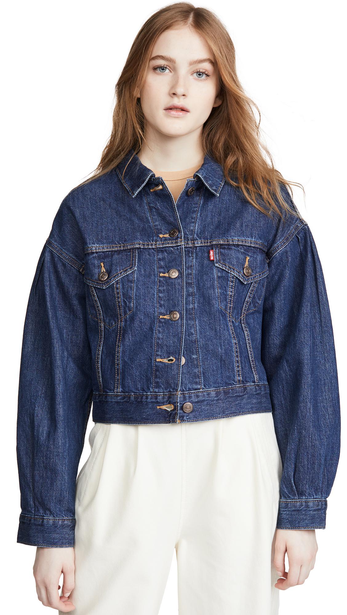 Buy Levi's Pleat Sleeve Trucker Jacket online beautiful Levi's Clothing, Jackets