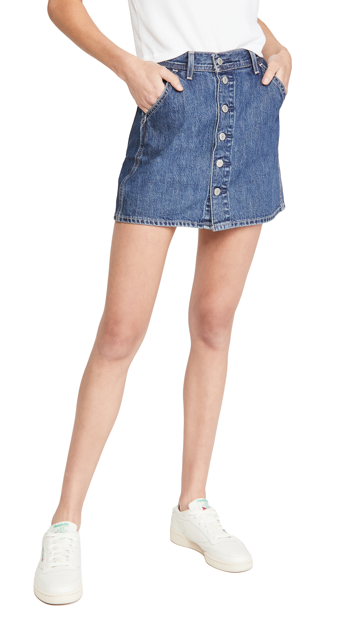 Levi's Button Front Utility Skirt