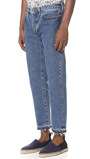 Levi's Made & Crafted Rail Cropped Denim Jeans