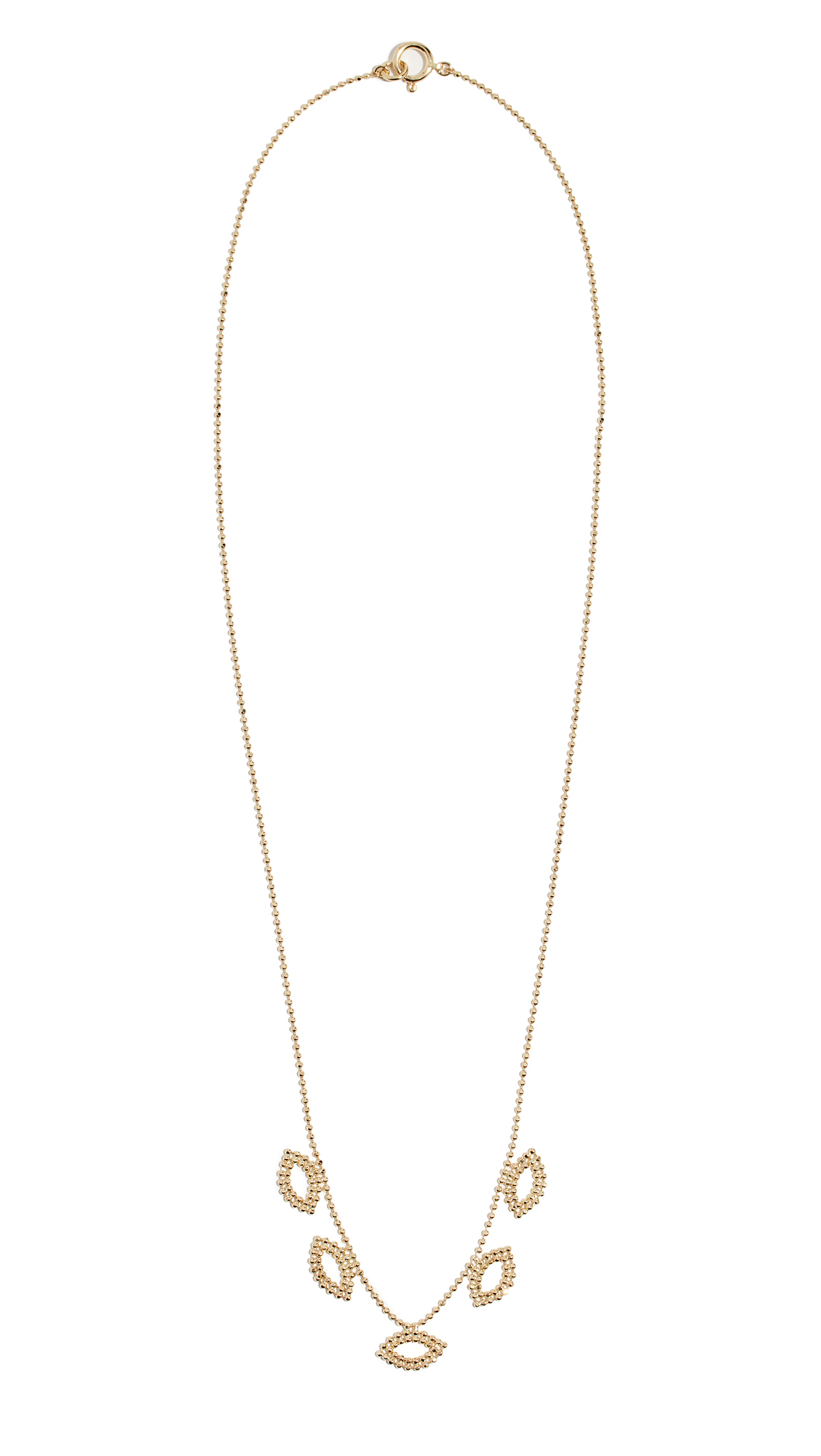 LUCY FOLK Golden Eye Necklace in Yellow Gold
