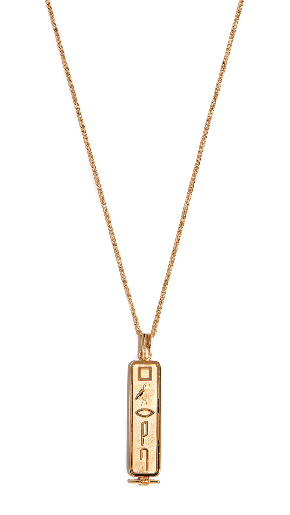 LUCY FOLK Le Memphis Necklace in Yellow Gold