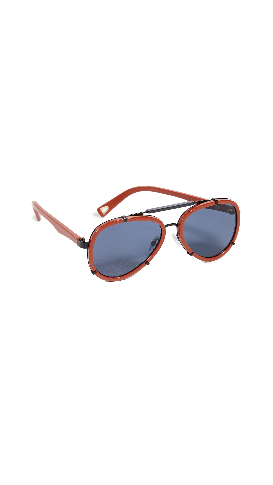 LUCY FOLK Frequent Flyer Sunglasses in Mud