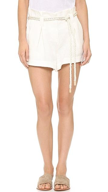 L'AGENCE Edie Paper Bag Shorts