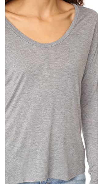L'AGENCE LONG SLEEVE TEE, HEATHER GREY