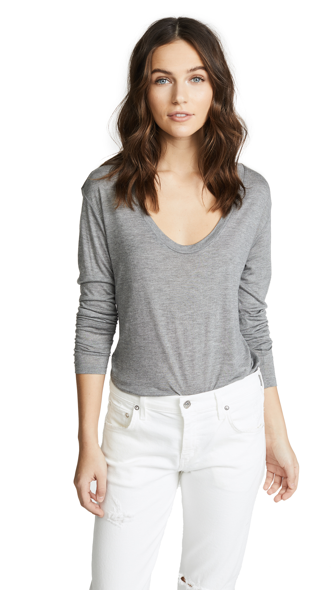 LAGENCE Long Sleeve Tee - Heather Grey