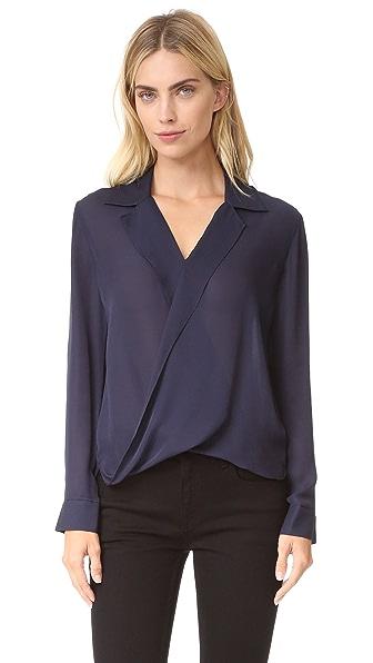 L'AGENCE Блуза Rita с драпировкой спереди