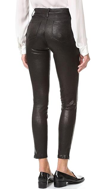 L'AGENCE Aurelie Leather Leggings