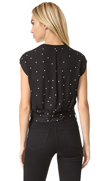 L'AGENCE T Lee Cross Front Blouse