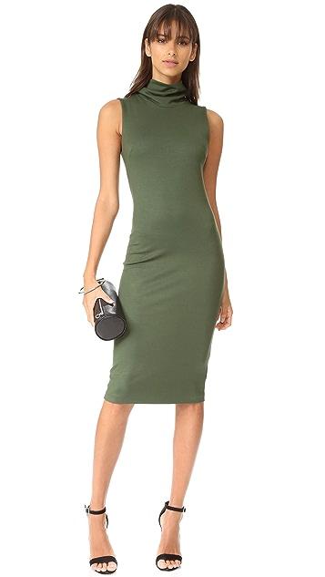 L'AGENCE Sydney Funnel Neck Dress
