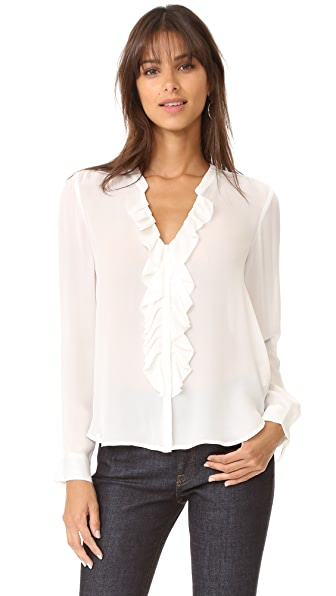 L'AGENCE Guilietta Ruffle Blouse