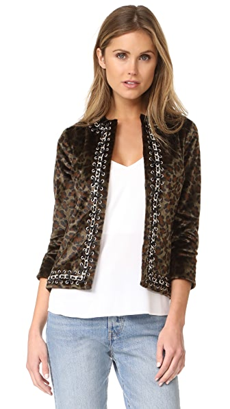 L'AGENCE Le Cheval Chain Trim Jacket