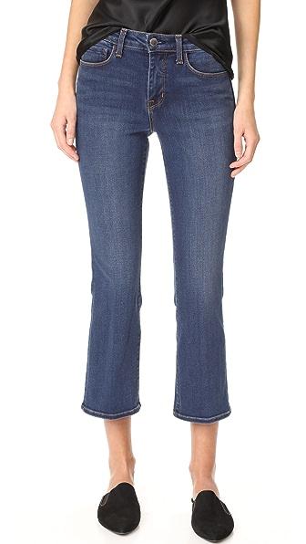 L'AGENCE Укороченные расклешенные джинсы Serena Baby