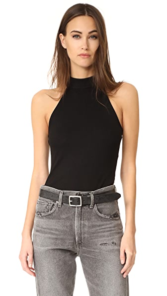 L'AGENCE Cindy Mock Neck Tank Top