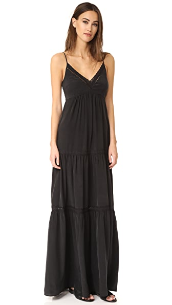 L'AGENCE Abby Lace Trim Maxi Dress