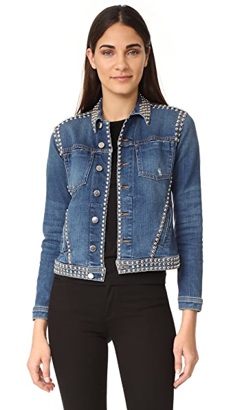 L'AGENCE Celine Studded Jacket In Authentique