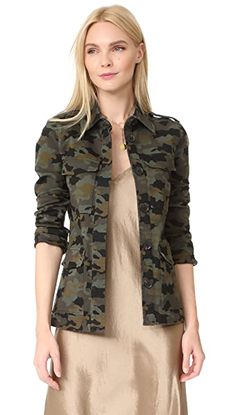 L'AGENCE The Cromwell Military Jacket In Camo Multi
