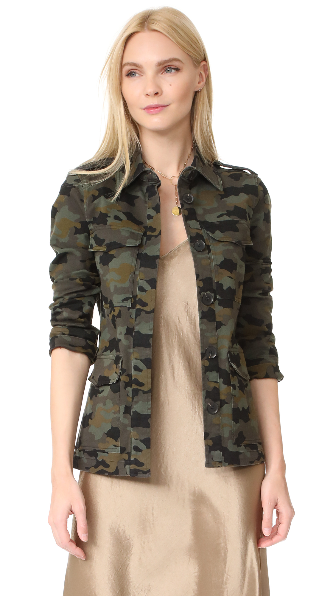 LAGENCE The Cromwell Military Jacket - Camo Multi