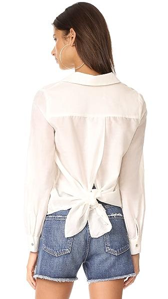 L'AGENCE Hana Tie-Back Blouse In Ivory