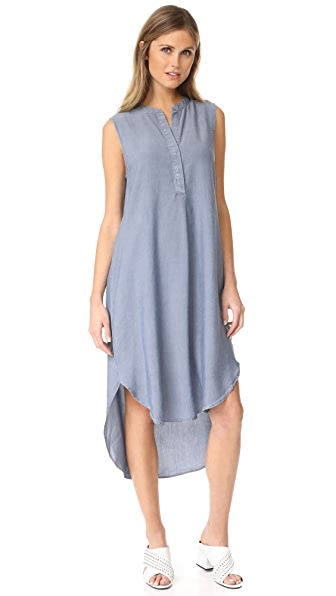 L'AGENCE Morocco Sleeveless Shirt Dress at Shopbop