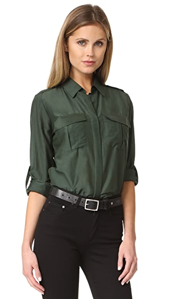 L'AGENCE Блуза Alek с карманами спереди