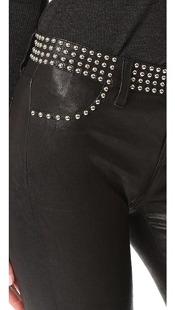 L'AGENCE Aurelie Studded Leather Pants