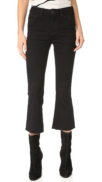 L'AGENCE Укороченные расклешенные джинсы Sophia с высокой посадкой