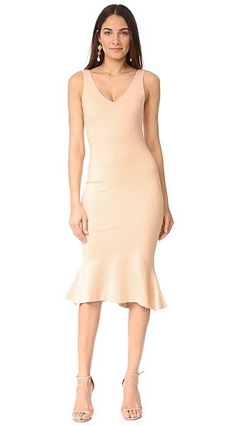 Купить L'AGENCE Платье Lucia с V-образным вырезом LGENC30558 фраппе