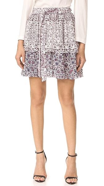 L'AGENCE Многоярусная юбка Rosie с оборкой
