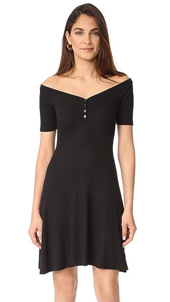 L'AGENCE Платье с открытыми плечами Elia