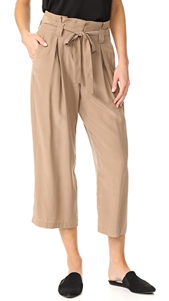 L'AGENCE Samira Wide Paper Bag Pants In Chanterelle