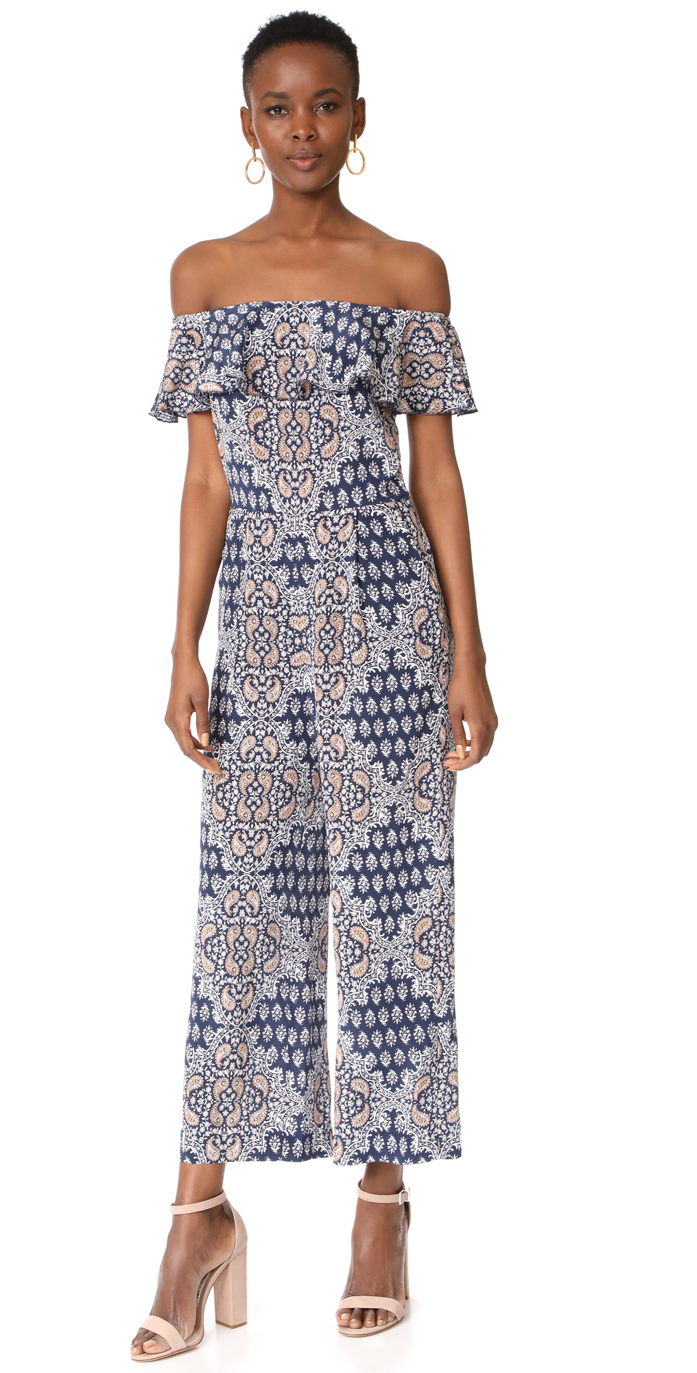 Nicolle Ruffle Jumpsuit L'AGENCE