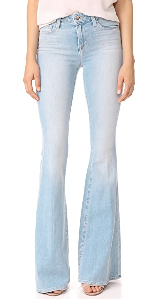 L'AGENCE The Solana Big Flare Jeans In Powder