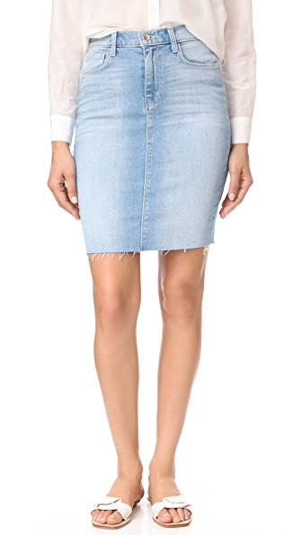 L'AGENCE Montecito High Ride Skirt In Powder
