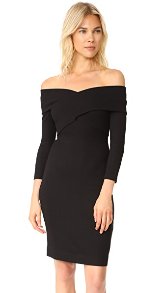 L'AGENCE Fantina Shoulder Wrap Dress