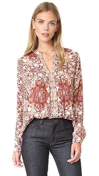 L'AGENCE Lauren Pleated Blouse