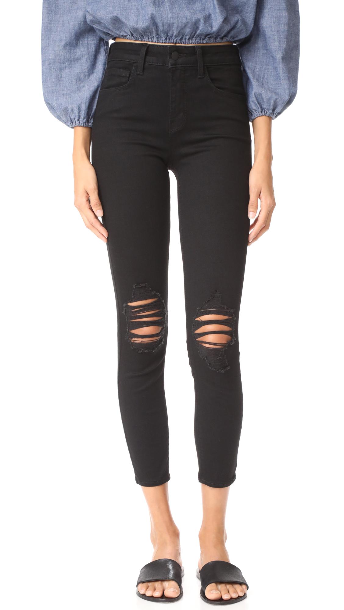 L'AGENCE Margot Skinny Jeans In Zinc