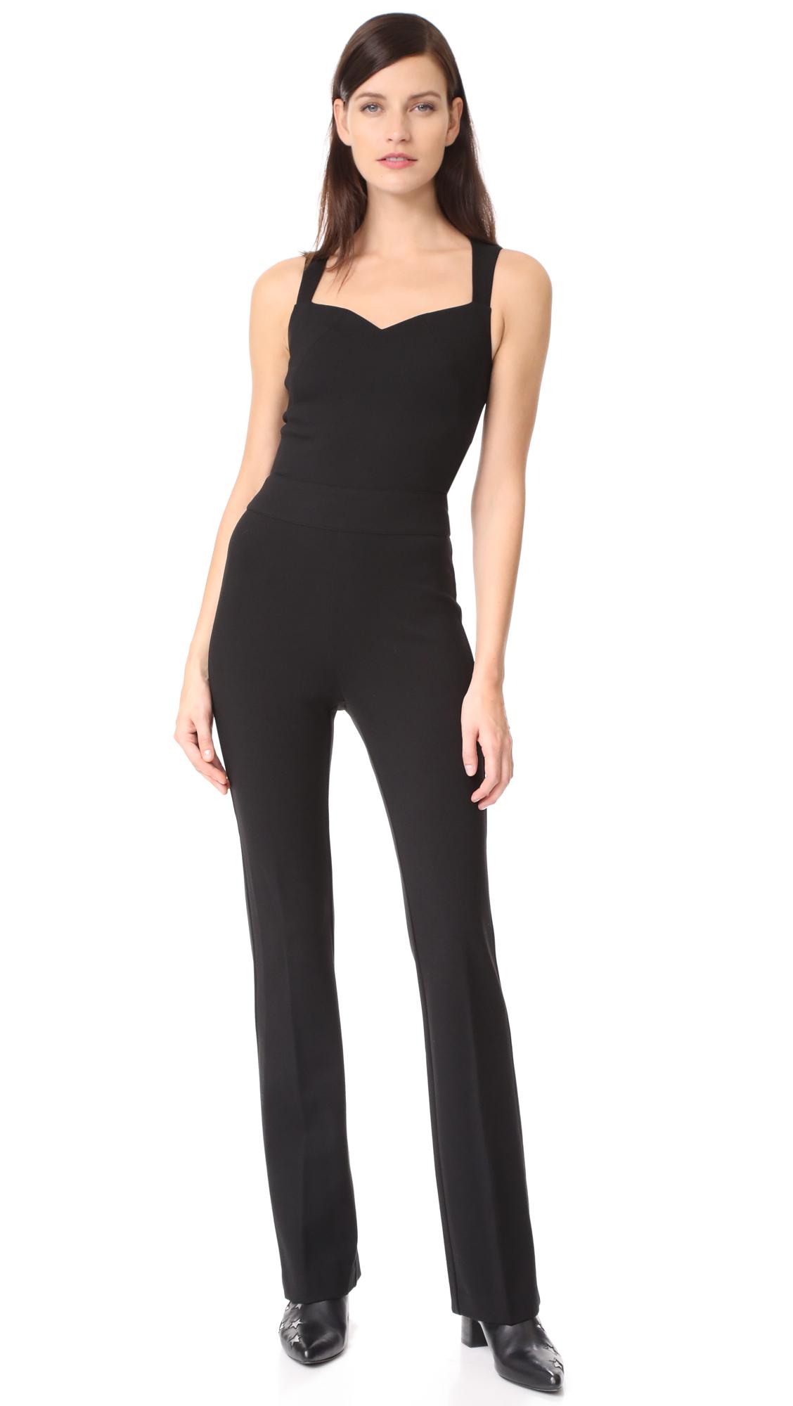 LAGENCE Shay Open Back Jumpsuit - Black