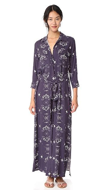 L'AGENCE Cameron Long Shirt Dress