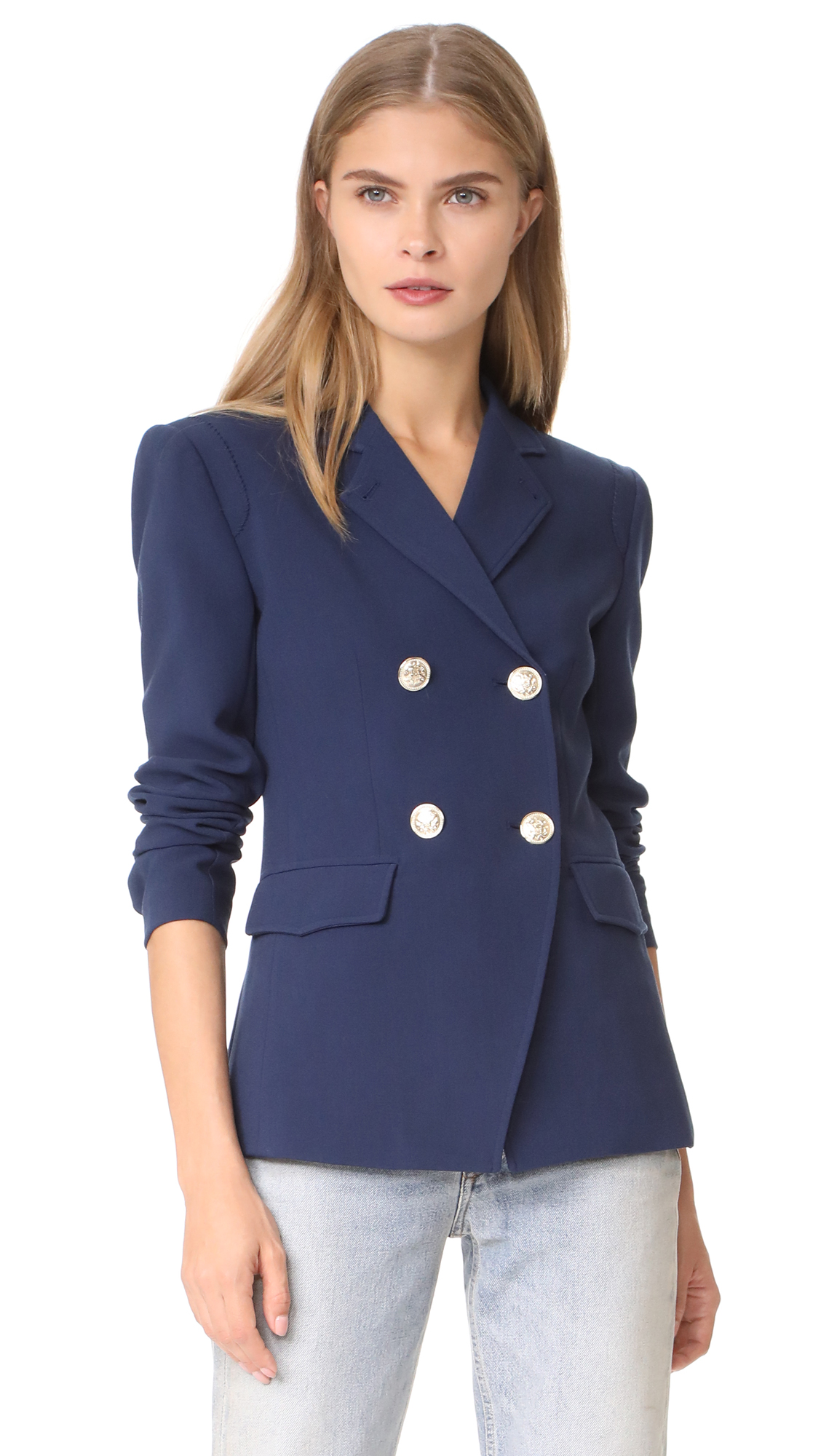 LAGENCE Marc Double Breasted Blazer - Navy
