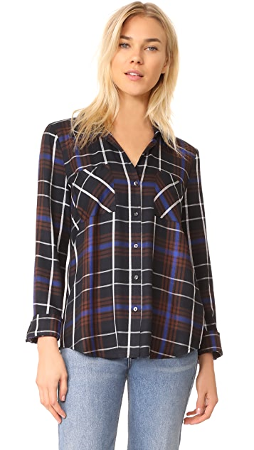 L'AGENCE Denise Contrast Back Shirt