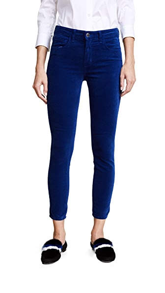 L'AGENCE Margot High Rise Ankle Skinny Pants In Royal