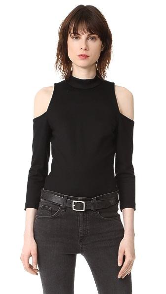 L'AGENCE Sasha Top In Black
