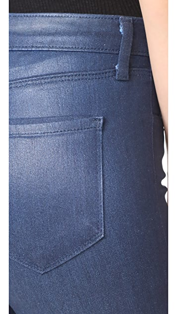 L'AGENCE Margot High Rise Skinny Coated Jeans
