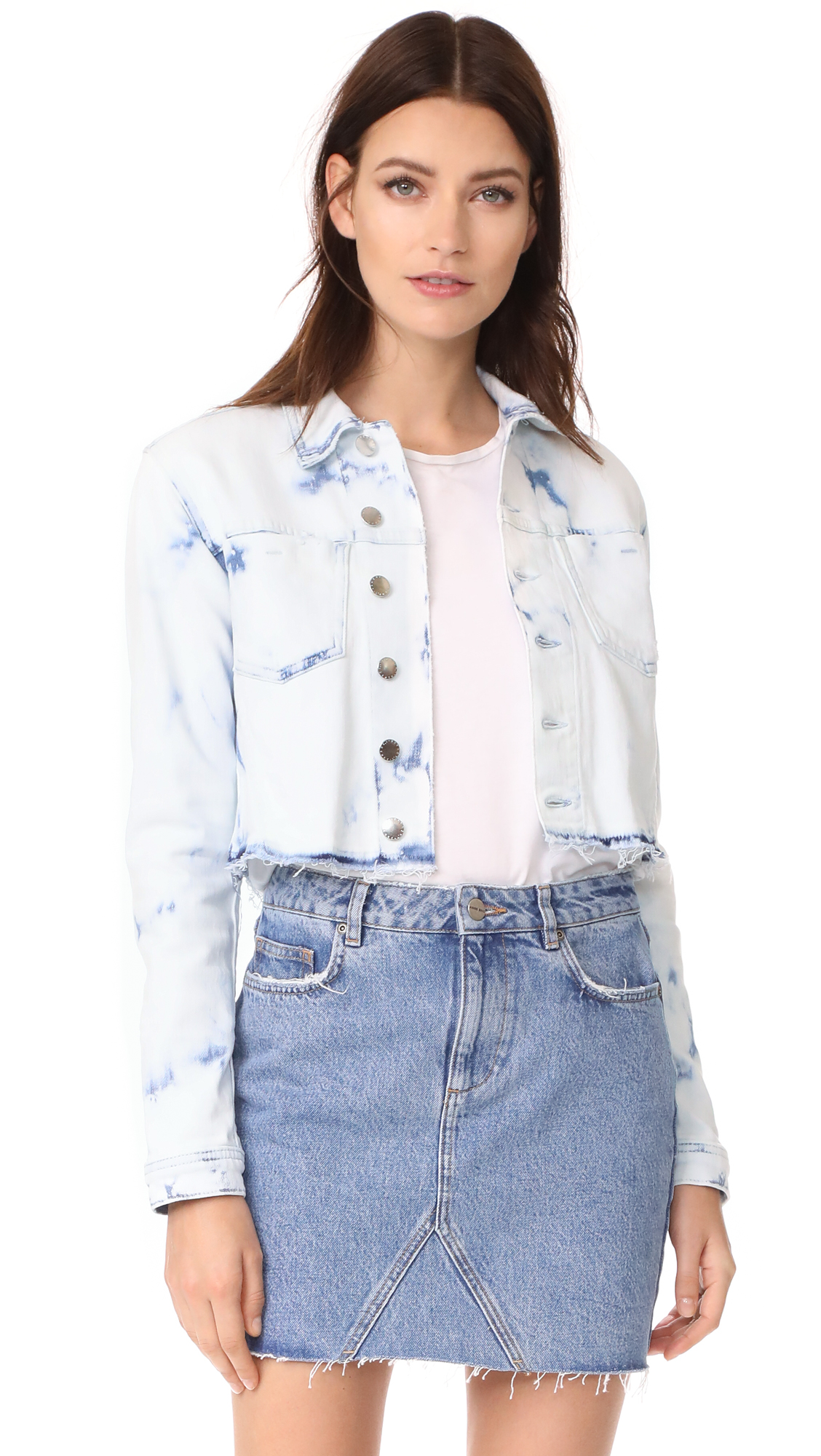 LAGENCE Zuma Crop Jacket - Bleach Splatter