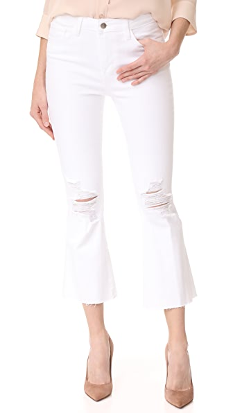 L'AGENCE Sophia High Rise Crop Jeans
